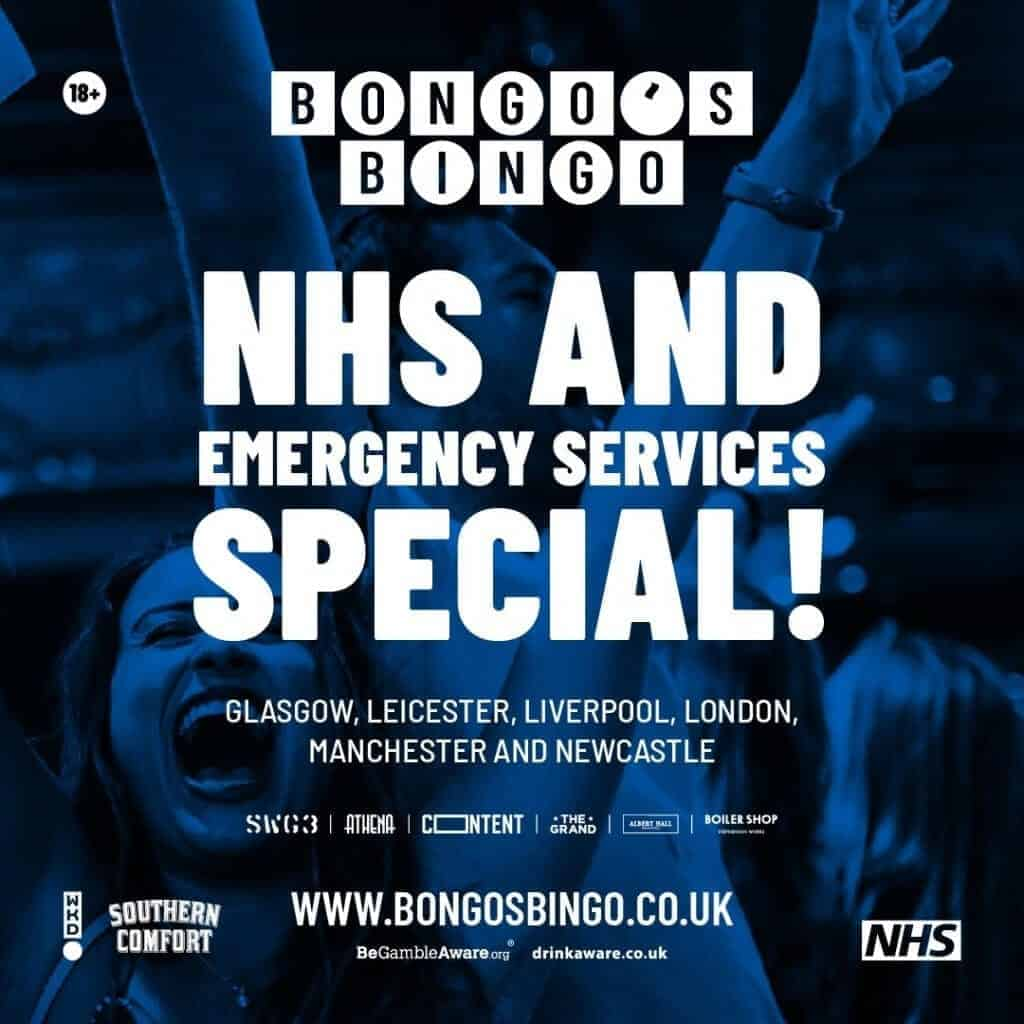 Bongo's Bingo announces 6 free shows for NHS staff and emergency workers