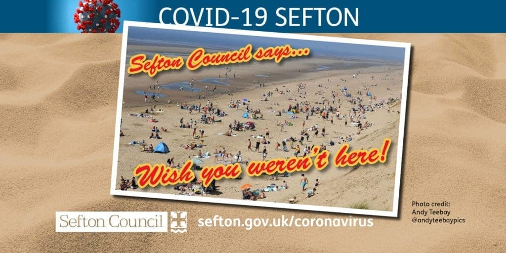 'Wish you weren't here!' plea from Sefton Council