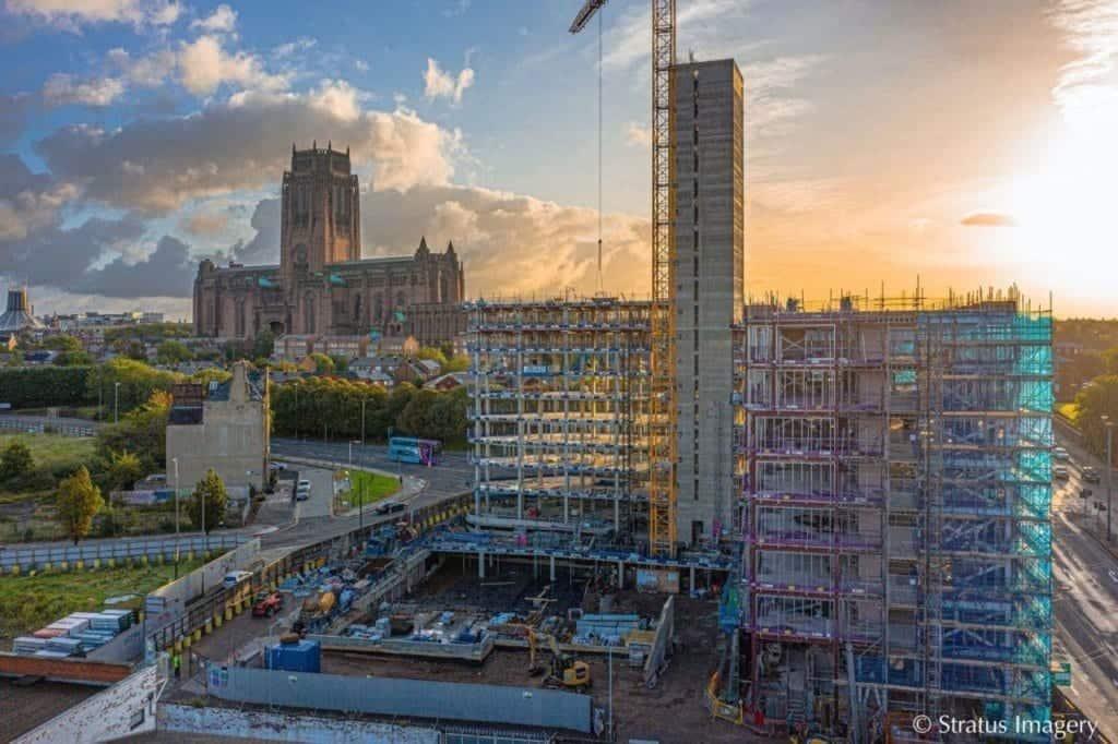 New image reveals new milestone for Liverpool's £90million Parliament Square development