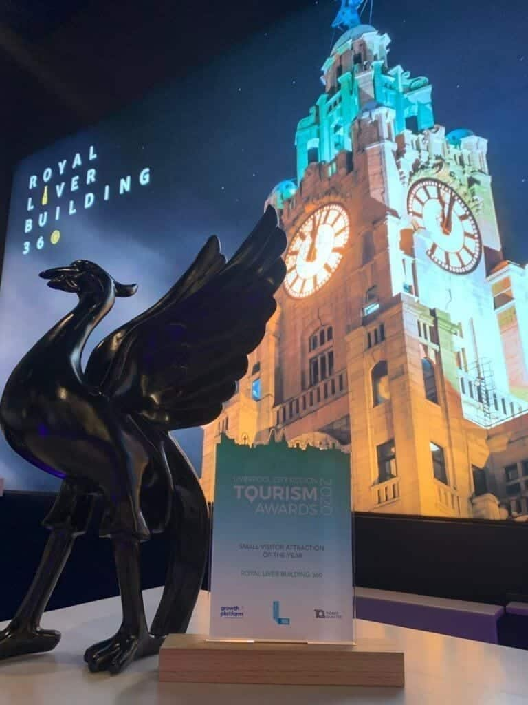 Liverpool's Iconic attraction RLB360 wins big at the LCR Tourism Awards