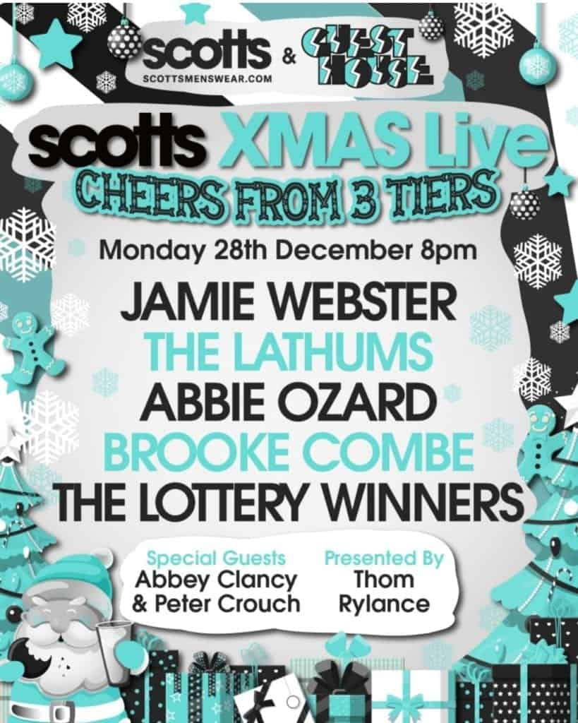 Scotts XMAS Live – Cheers from 3 Tiers