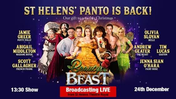 St Helens Theatre Royal to live stream Panto this Christmas Eve