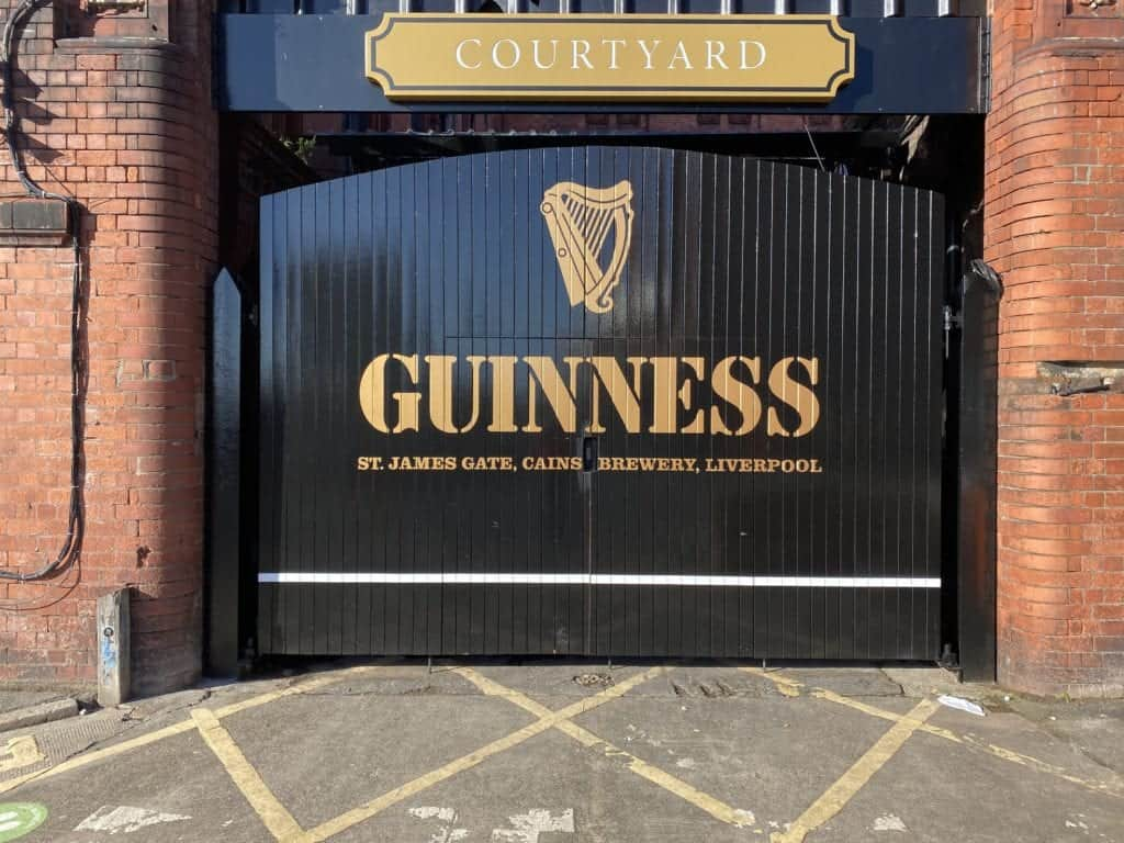 Punch Tarmey's Liverpool has installed a replica of The 'Guinness' St. James Gate