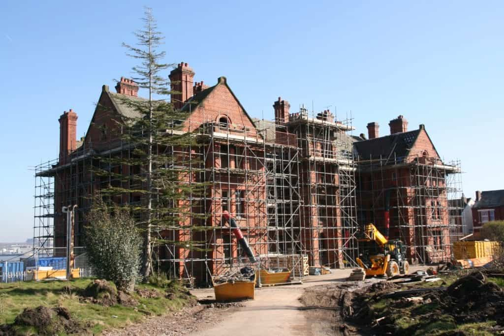 Works take shape on Wirral waterfront landmark Andrew Gibson House
