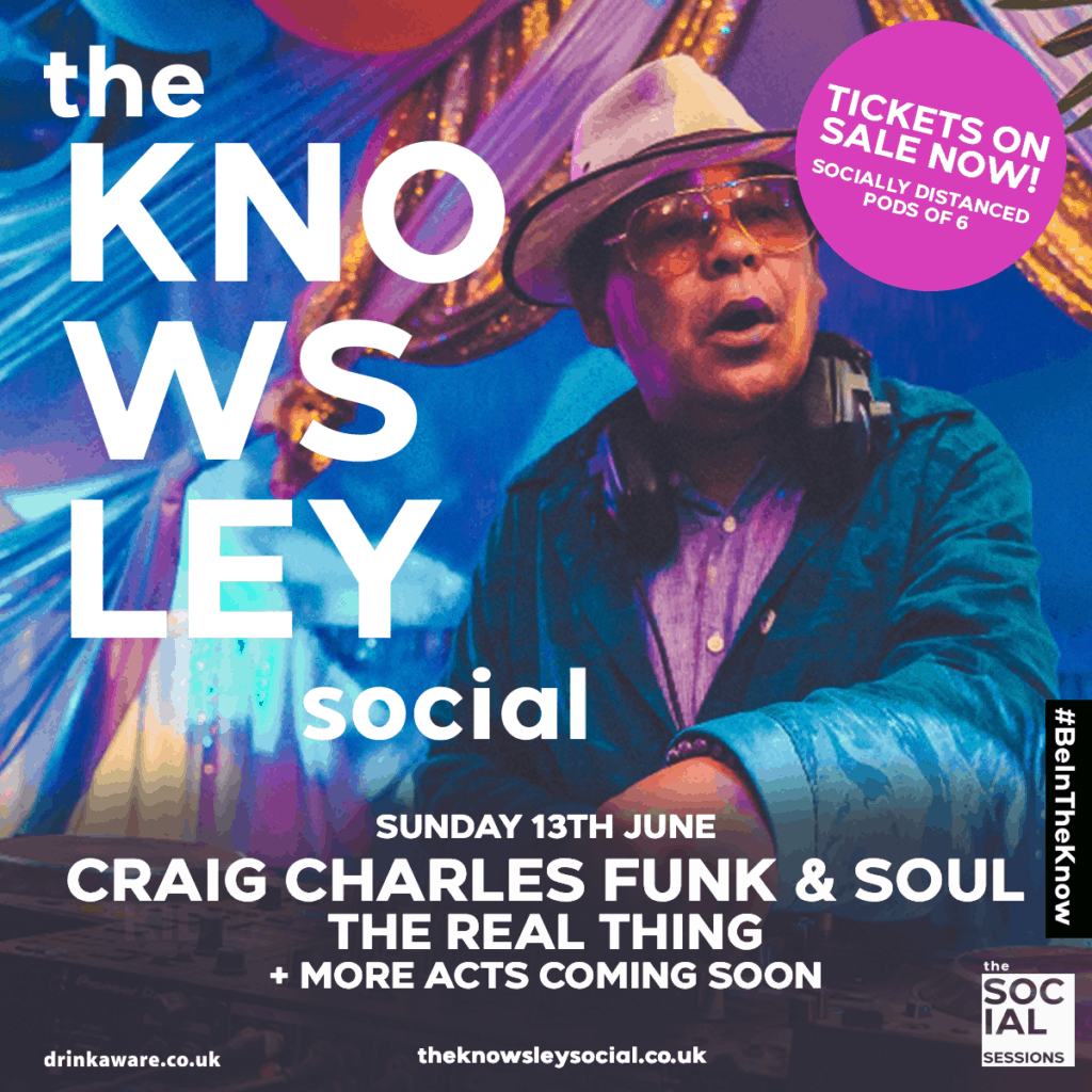 DJ Craig Charles and The Real Thing to perform at The Knowsley Social