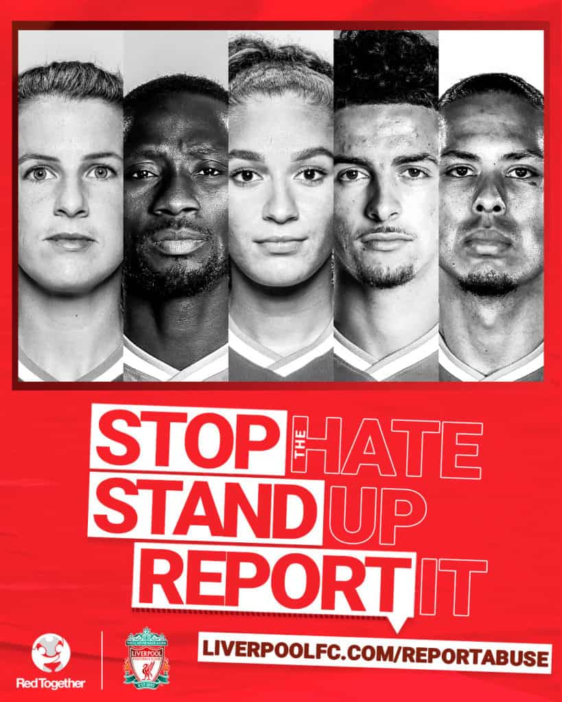 LFC launch anti-hate campaign – Stop The Hate, Stand Up, Report It