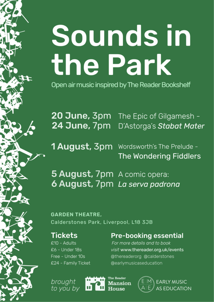 'Sounds in the Park' revives Garden Theatre at Calderstones this Summer