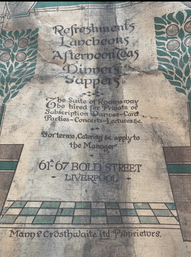 LEAF Bold Street make historic food menu discovery dating from 1913