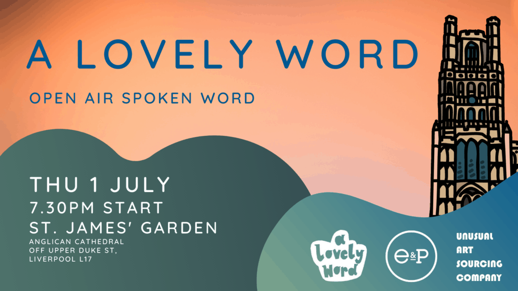 A Lovely Word bring local poets to perform outdoors in Liverpool parks this Summer