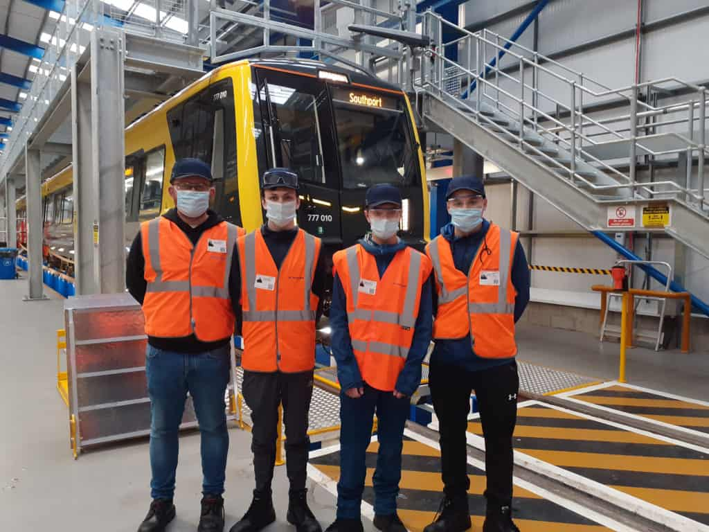 Merseyrail and Stadler join forces to provide local students with a behind-the-scenes tour
