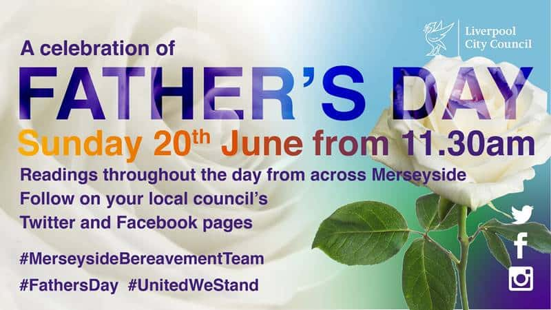 Merseyside communities to come together online this Father's Day