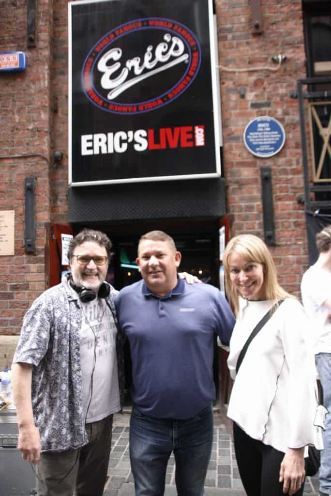 """Filming continued for """"Bolan's Shoes"""" at Eric's on Mathew Street"""