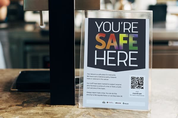 'You're Safe Here' scheme to create safe spaces across the city